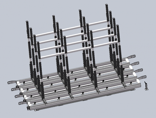 Rack for raw glass